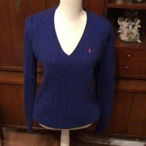 Really pretty women's purple Ralph Lauren sweater.